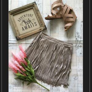 NWT BB Dakota Faux Suede Tassel Fringe Skirt